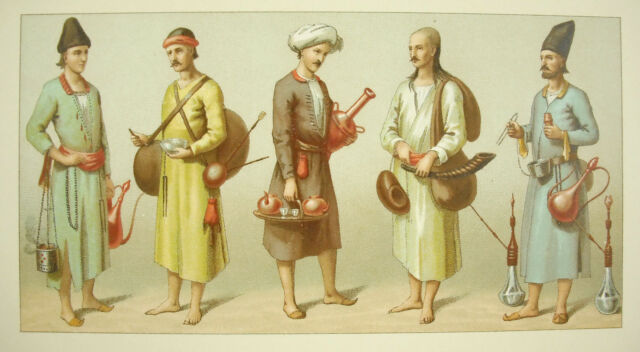 Suits Traditional Persan Persian Iran Iranian Nordmann Firmin Didot c1888