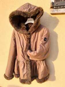 Monnalisa-giubbotto-bambina-10-anni-140-cappuccio-pelo-inverno-giacca-cappotto
