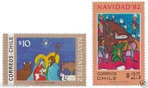 Chile-1982-1040-41-Navidad-Christmas-MNH