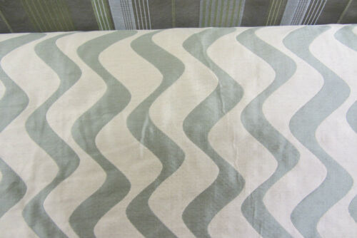 Contempary Wave  Faux Silk Curtain//Craft Fabric