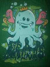 BREATHE CAROLINA T SHIRT Octopus Monsters King Crown Ink Heart Love Band XL
