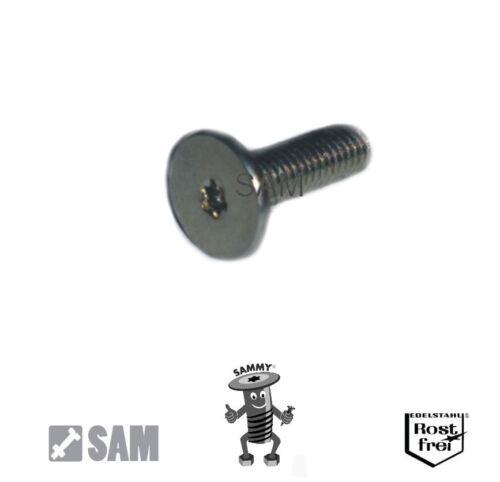 25 Stück Sammy® Schrauben M2,5X8 großer Flachkopf,sehr niedrig Torx Edelstahl A2