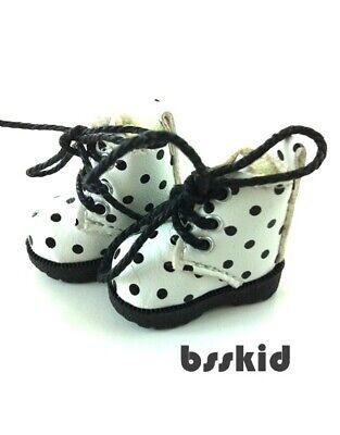 D02 Blythe Lati Yellow 1//12 Doll Shoes White Flat Martin Boot