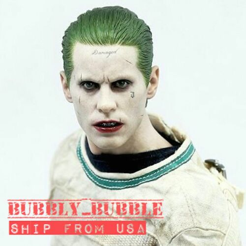 IN STOCK 1//6 Joker Head Sculpt Jared Leto Suicide Squad Batman For Hot Toys USA