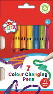 Magico Colore Cambiando Feltro Punta Penne Pennarelli Bambini Colorare