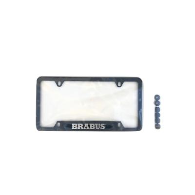 Black License Plate Frame Barbus