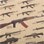 Retro-Kraft-Paper-Poster-Famous-Gun-Styles-for-Bar-Cafe-Room-Home-Wall-Decor miniature 2