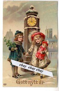 Used 1911 Beautiful Antique Happy New Year Postcard Sweden Swedish Ebay