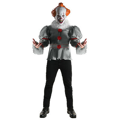 Rubie's Official Stephen King's IT, Pennywise Deluxe Fancy Dress Clown Costume