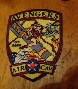 Details about ARMY  PATCH, A CO 1ST BN, 222ND AVN RGT, RED BORDER, SEXY COW  GIRL,OIF 06-08