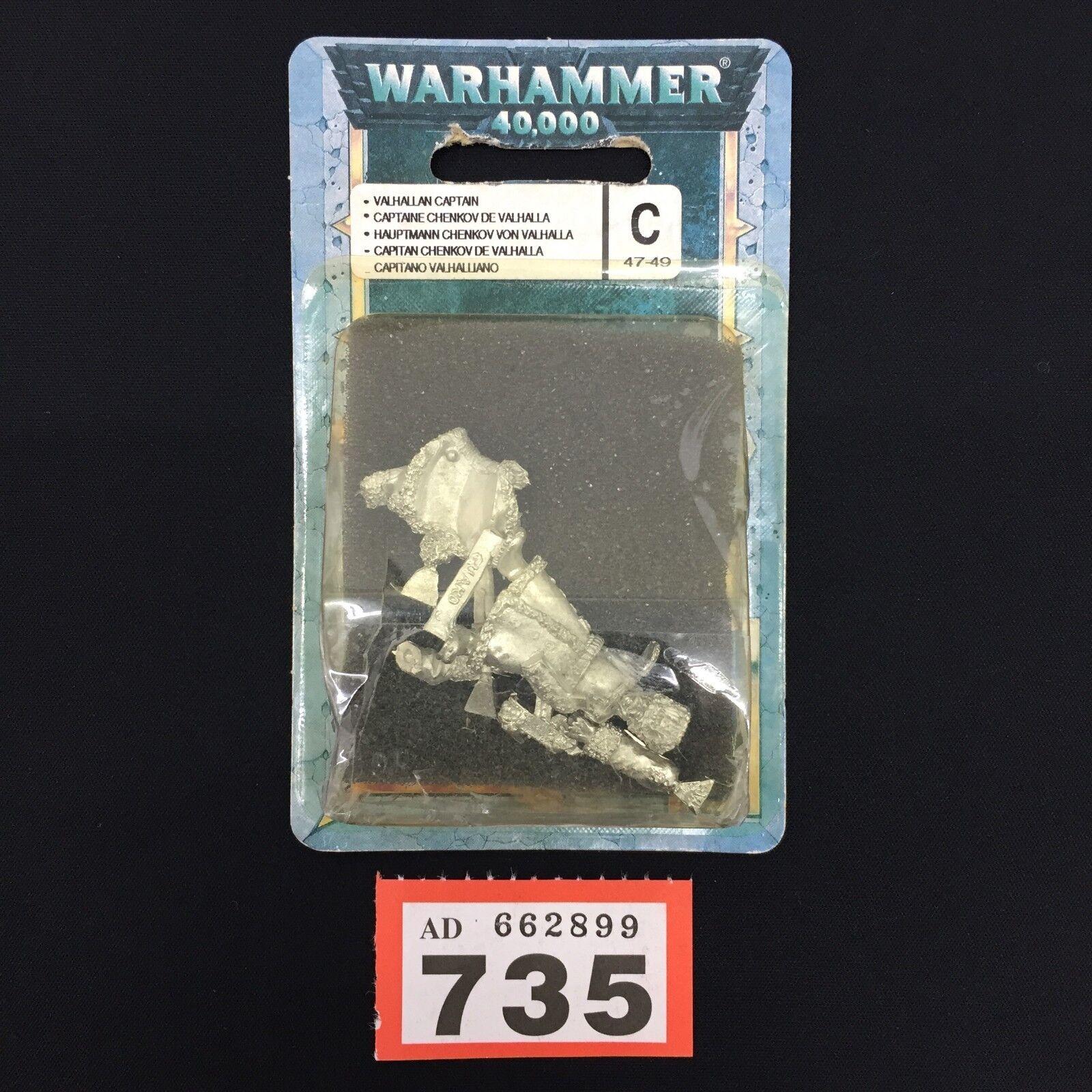 Warhammer 40.000 valhallan captain chenkov. du hast es geschafft - imperialen garde walhalla - blisterpackung