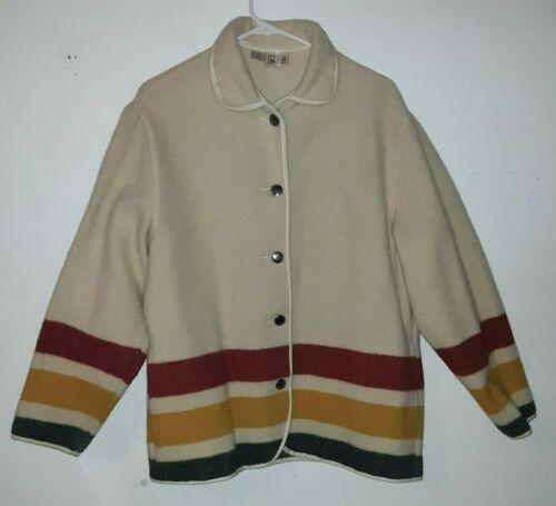 Vintage Woolrich Coat Hudson Bay Stripes ~ Women's