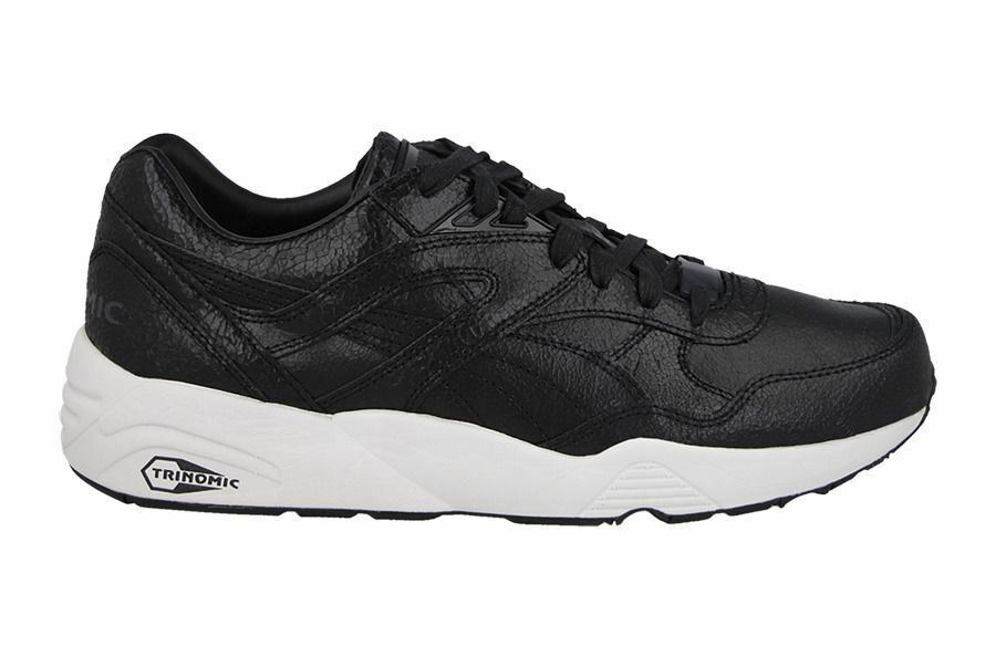 Puma Homme R968 pour homme Tech Cuir Sports Baskets Noir (357740-01)-