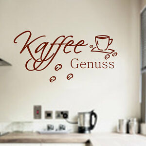 Wandtattoo Küche Kaffee Genuss Kaffetasse Wandspruch Wanddekoration ...