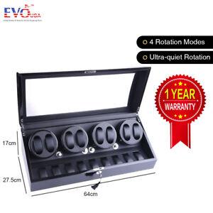 XTELARY-Luxury-4-Motor-Quad-Automatic-Watch-Winder-Display-Box-Case-8-9-Storage