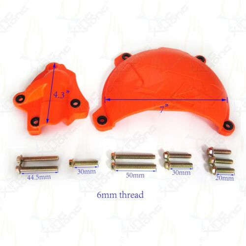 ABS Clutch Cover Protection /& Water Pump Protector For KTM 350 EXC-F XC-F XCF-W