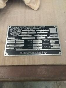 Pratt-amp-Whitney-R985-Wasp-Junior-Data-Plate-Nos