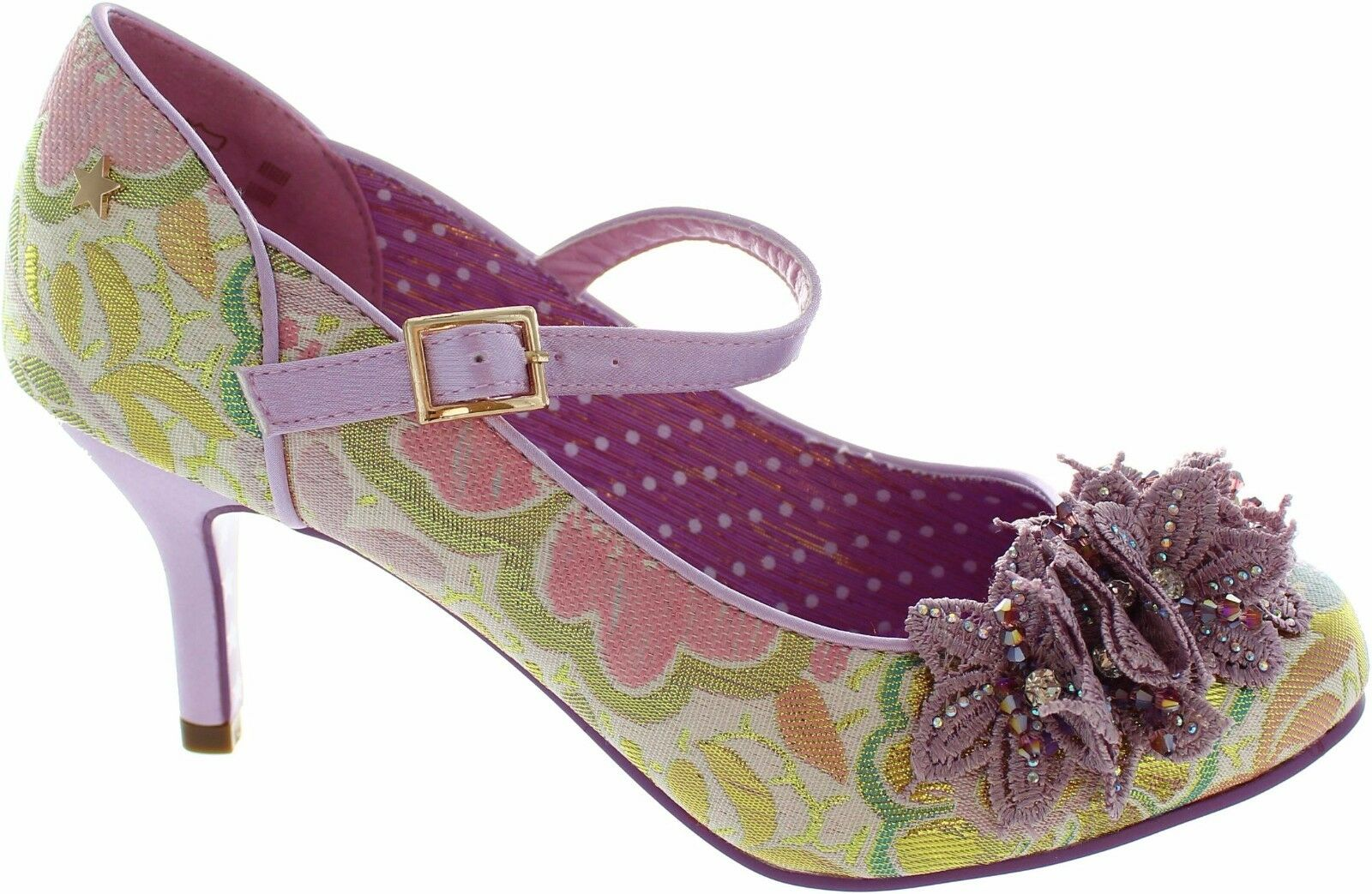 WOMENS Joe Browns Pink Purple Floral Ginnie High Heels Heels Heels shoes Ankle Boots New In 7e2d5d