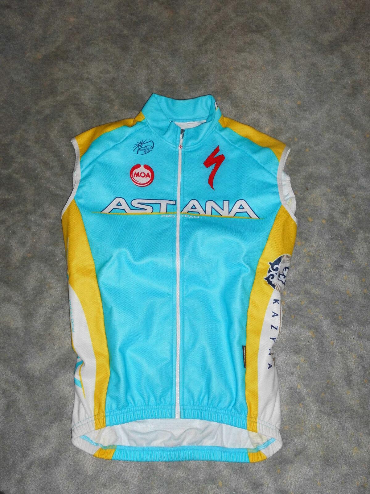Original MOA Team Astana Specialized thermo Winter Weste MantoTex Windstopper