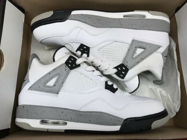 fffd462da Nike Air Jordan 4 White Cement IV Retro OG Size 6y GS 836016 192 for ...