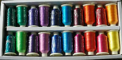Brights Marathon Viscose Rayon Embroidery Machine Thread 20 x 1,000m Spools MB