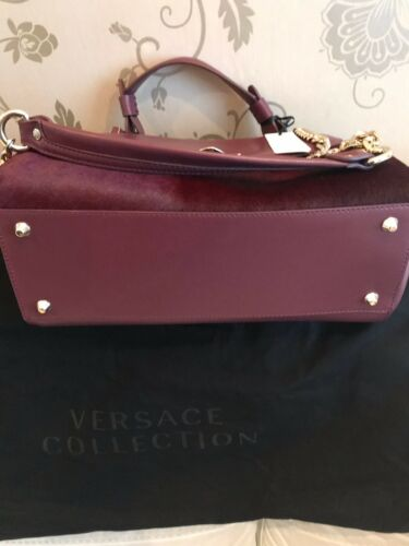 Calf New Versace Collection Handle Large Leather Authentic Bag Hair Top wRZFqxx4U
