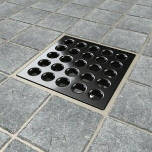 Image Is Loading Ebbe Square Tile Shower Drain Esd Bi Black