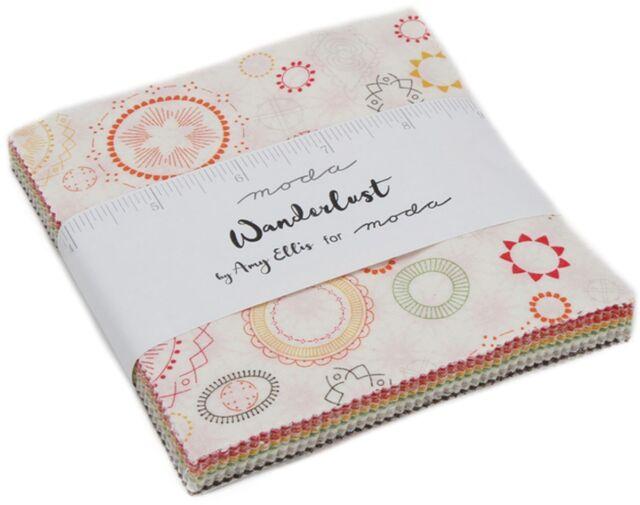MODA Homegrown Charm Pack by Deb Strain; 42-5 Precut Fabric Quilt Squares