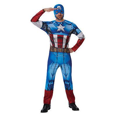 Rubie's Marvel, Classic Captain America Adults / Mens Fancy Dress Costume