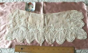 Antique-Early-American-18thC-Early-19thC-Hand-Embroidered-Linen-Leaves-17-034-X-7-034