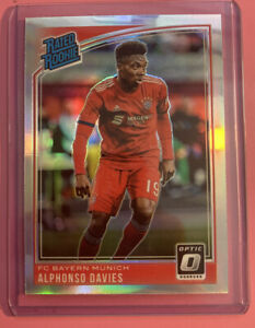 18-19-Panini-Optic-Alphonso-Davies-Silver-Holo-Prizm-178-Rated-Rookie-RC-Bayern