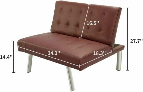 Details about  /Sofa Bed Set Foldable Convertible Couch Folding Chaises Leather Living Room US