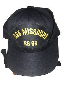 VTG-USS-MISSOURI-BB-63-Naval-Hat-Snapback-Ship-Pearl-Harbor-California-Headwear