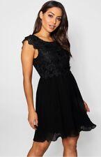 d8e2036fec5d Boohoo Womens Boutique VI Corded Lace Panelled Skater Dress for sale ...