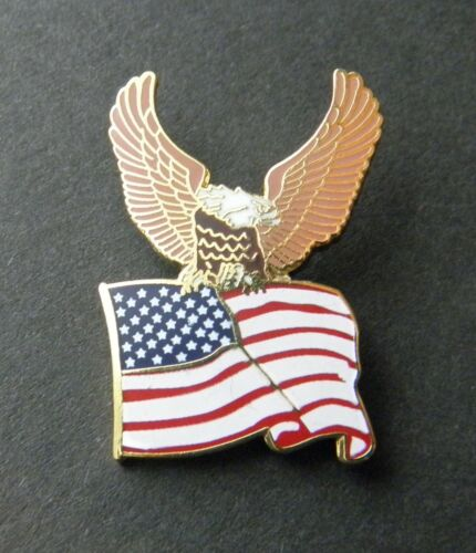 Details about  /USA Wavy Flag /& Eagle United States US Cap Hat Lapel Pin Badge 7//8 inch x 1 inch