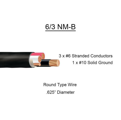 """6//3 NM-B x 40/' Southwire /""""Romex®/"""" Electrical Cable"""