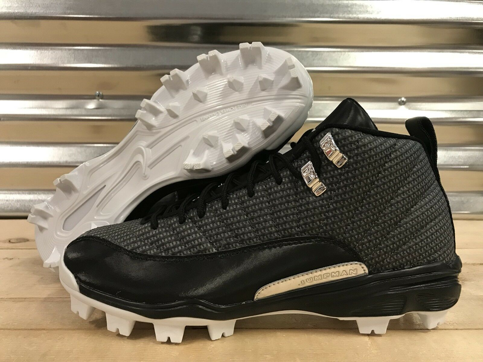 Nike Air Jordan 12 XII Retro MCS Baseball Cleats Black Gray Price reduction Special limited time