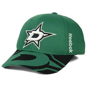 70a9db162ab Dallas Stars NHL Draft Flex Cap Hat Lid Hockey Reebok Men s Green ...
