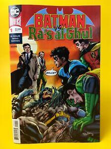 OF 6 2019 1ST PRINTING NEAL ADAMS B/&W VARIANT COVER BATMAN VS RAS AL GHUL #1