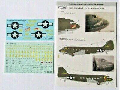 Foxbot 48-017A Decals 1//48 Douglas C-47 Skytrain//Dakota Pin-Up Nose Art Military