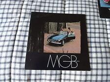 1969 MGB  Mark II   sales brochure original  NOS dated 3/69