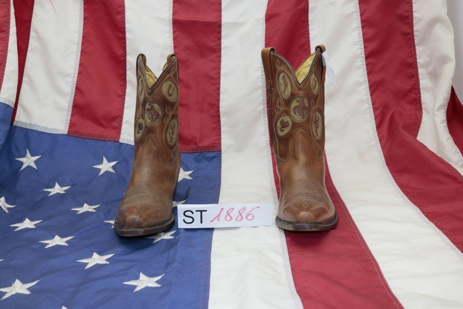 Stiefel (Cod. ST1886) ST1886) ST1886) USATO N.42 herren Pelle braun Cowboy country Texani bikers bb2ef0