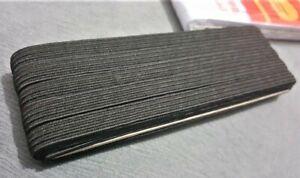 10-metres-Ruban-elastique-Latex-Largeur-9-4mm-indemaillable-Noir-pour-Masque