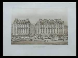 PARIS-BOULEVARD-DES-ITALIENS-1913-ARCHITECTURE-PRINT-FRANCE