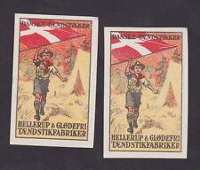 Ancienne  étiquette Allumettes Danemark  BN231225 Scout Tente Drapeau