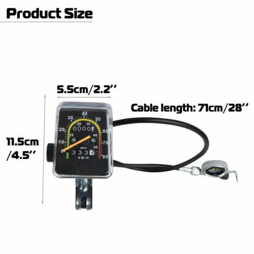 Waterproof Bicycle Bike Speedometer Mechanical Odometer With Hardware Cycling