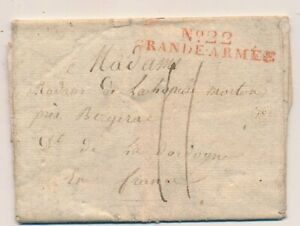 LETTRE-N-22-GRANDE-ARMEE-PILLAU-PRUSSIA-COVER-GERMANY-RUSSIA-WAR-MILITAIRE
