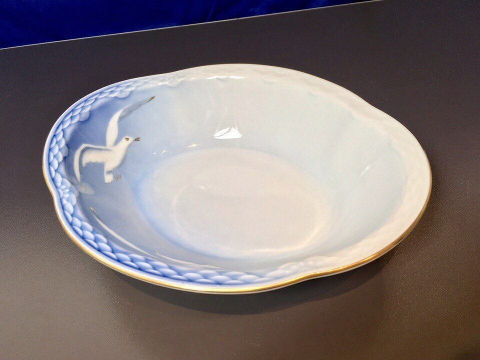 Bing & Grondahl Gabbiani Cestino Cestino Cestino Ovale Filo Gold - 573 - Seagull Oval bowl NEW c57357