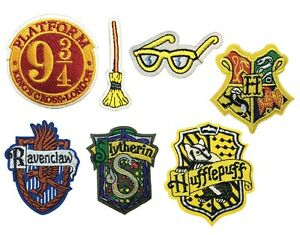 Harry Potter Hogwarts Ravenclaw Slytherin Embroidered Sew Iron On Patch Badge