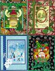 Handmade CHRISTMAS CARDS--half religious #C17--Lot of 4